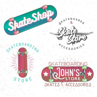 Skateboarding themed vintage logos