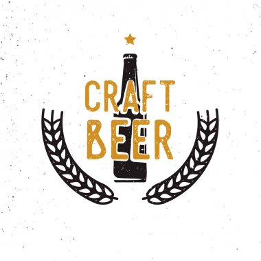 craft beer 60s or 70s logotype, vintage style