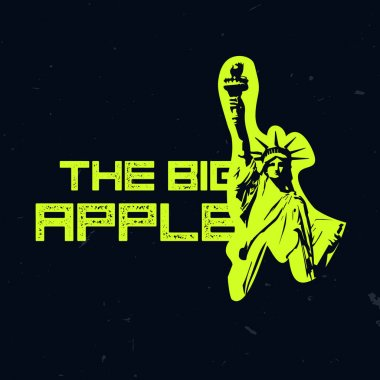 The big apple NYC wear design, t-shirt print