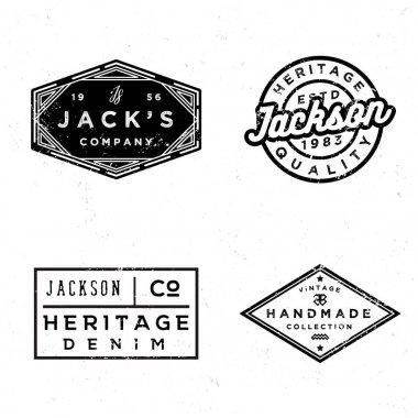 Vintage old labels design set. Prints for t-shirt