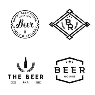 Set of vintage retro badges on pub theme.