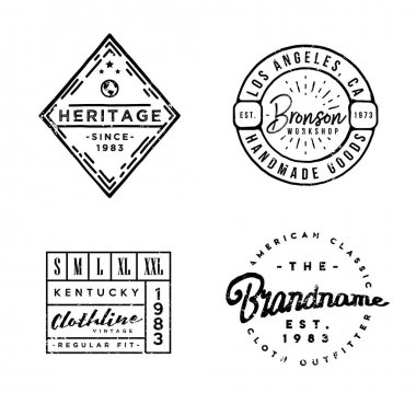 handcrafted designed Apparel Labels in vintage style.