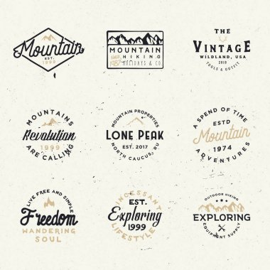 Minimal retro badges, vintage labels for branding projects, cards