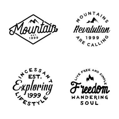 Cleat vintage minimal badges on journey theme