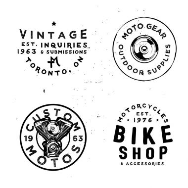 Retro badges templates for motorcycles repair