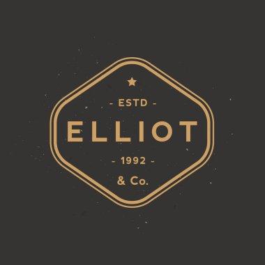 Clothing label. Elegant and simple retro apparel badge