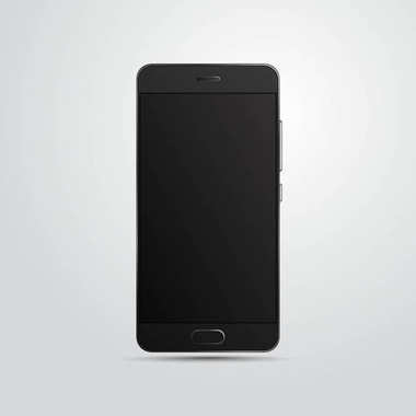 Vector mobile phone isolated on light background.