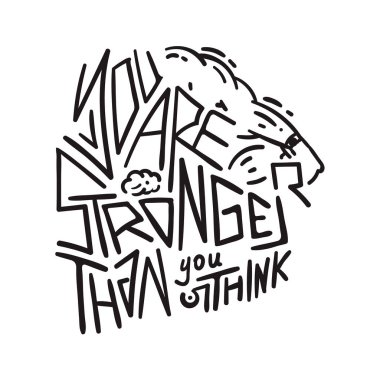 You are stronger than you think - motivational poster