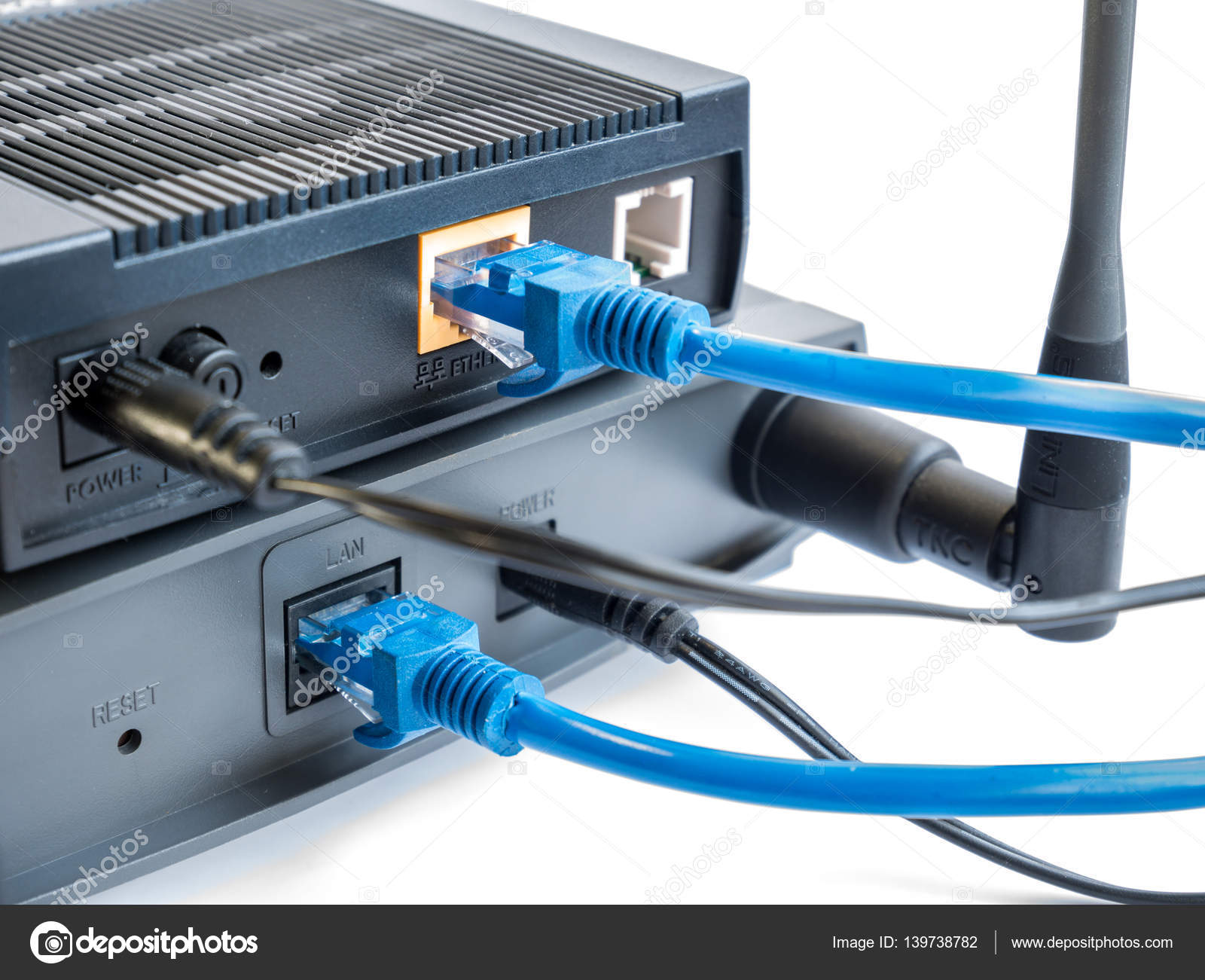 Internet router and wireless access point — Stock Photo © etaphop ...