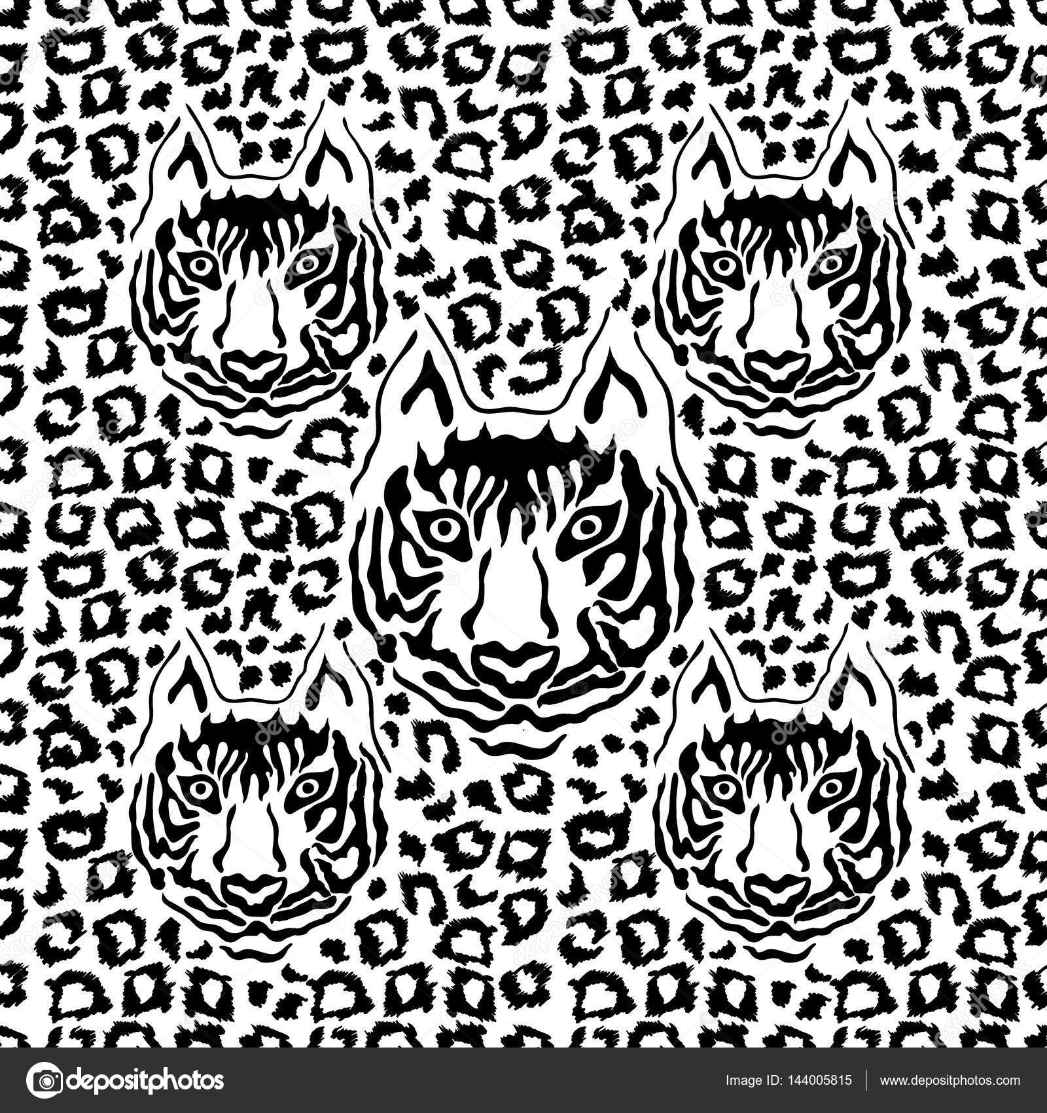 Papel Deco Para Imprimir Animal Print Ilusión óptica Animal