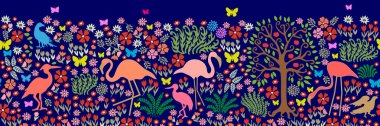 Seamless pattern for wall painting and frescos.