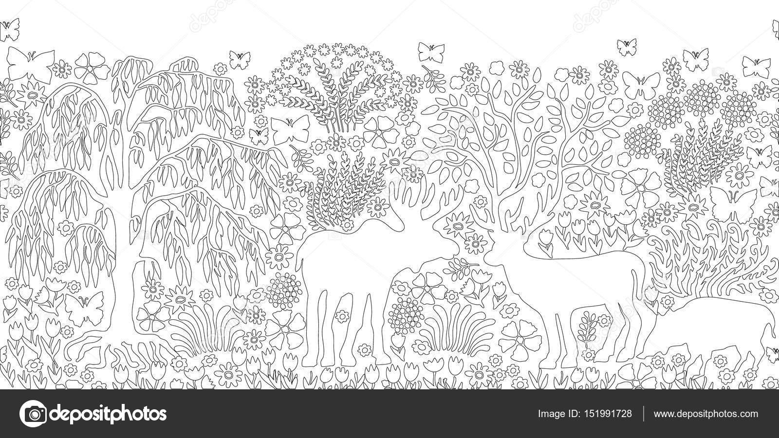 Bosque mágico verano — Archivo Imágenes Vectoriales ...