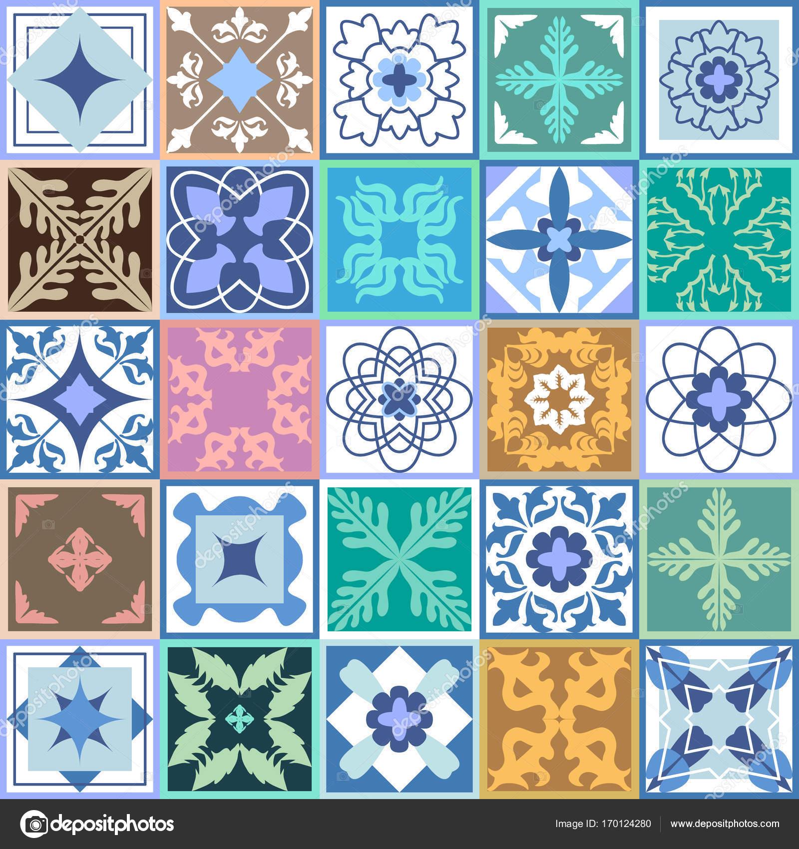 Set of green ceramic tiles glazed ceramic mosaic with moroccan set of green ceramic tiles glazed ceramic mosaic with moroccan spanish portuguese motifs dailygadgetfo Gallery