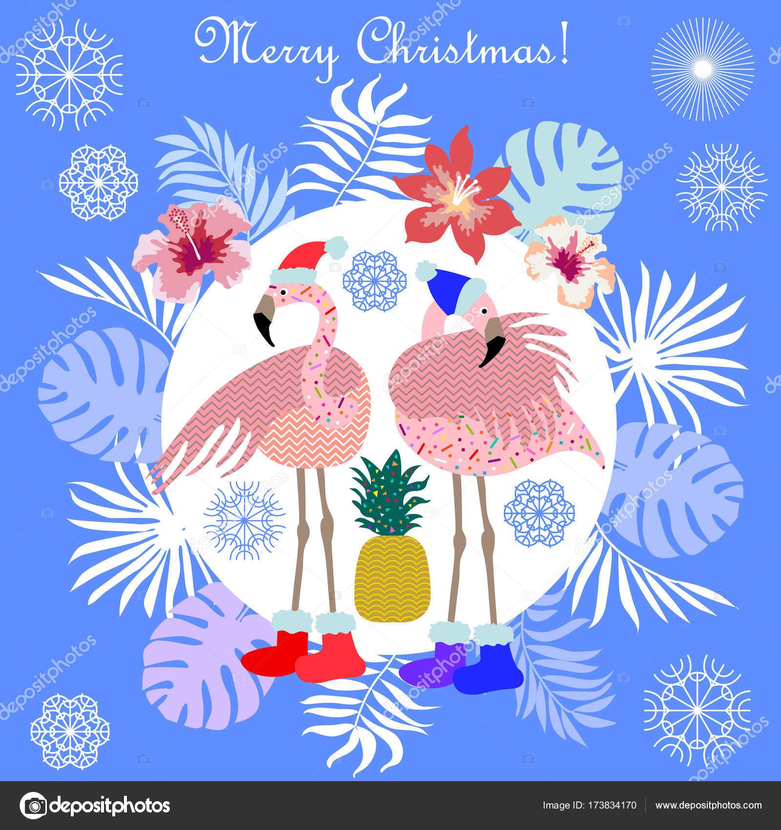 Hot Christmas tropical holiday. — Stock Vector © SvetlanaKononova ...