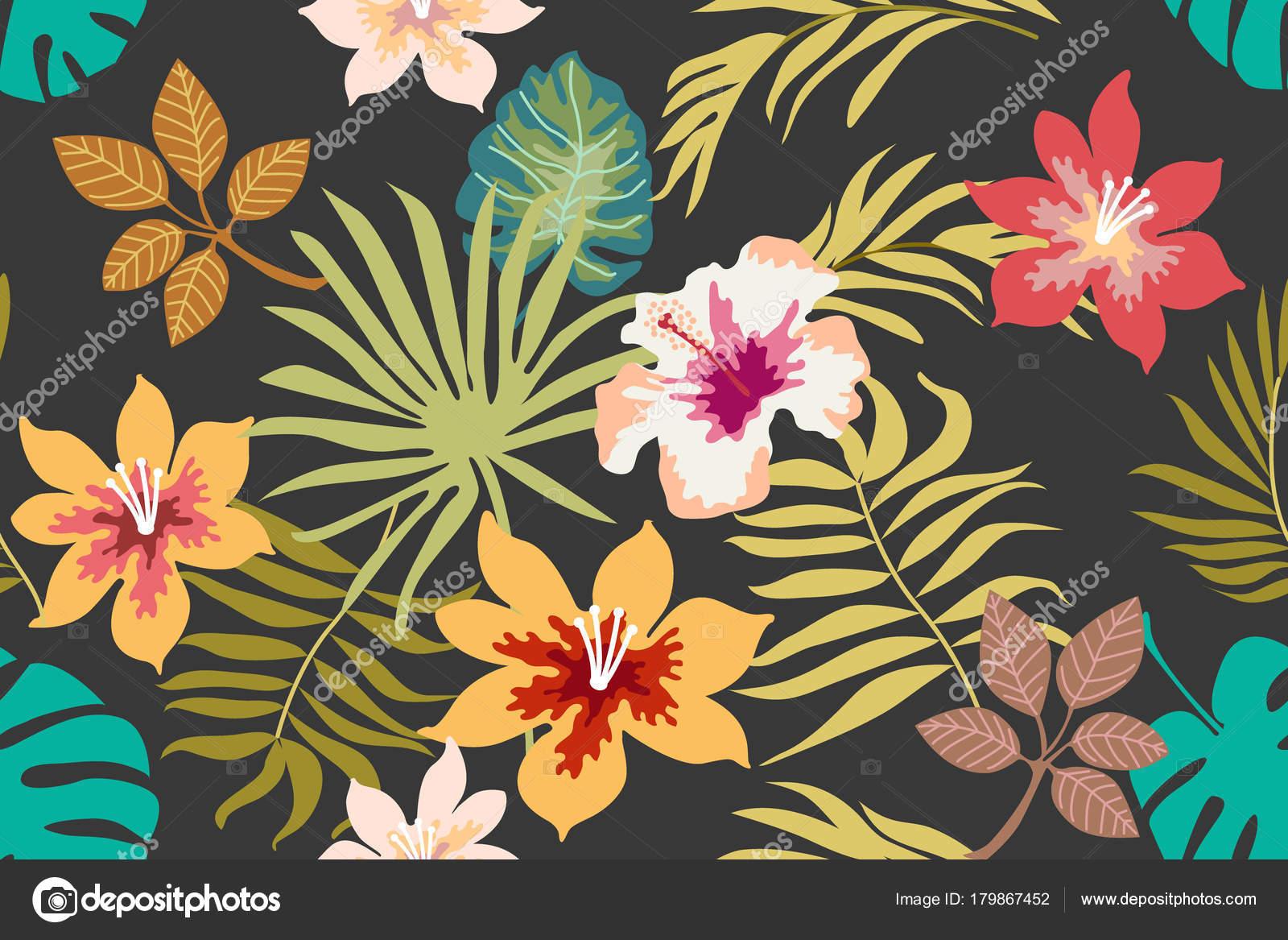 Tropical Floral Background Stock Vector C Svetlanakononova
