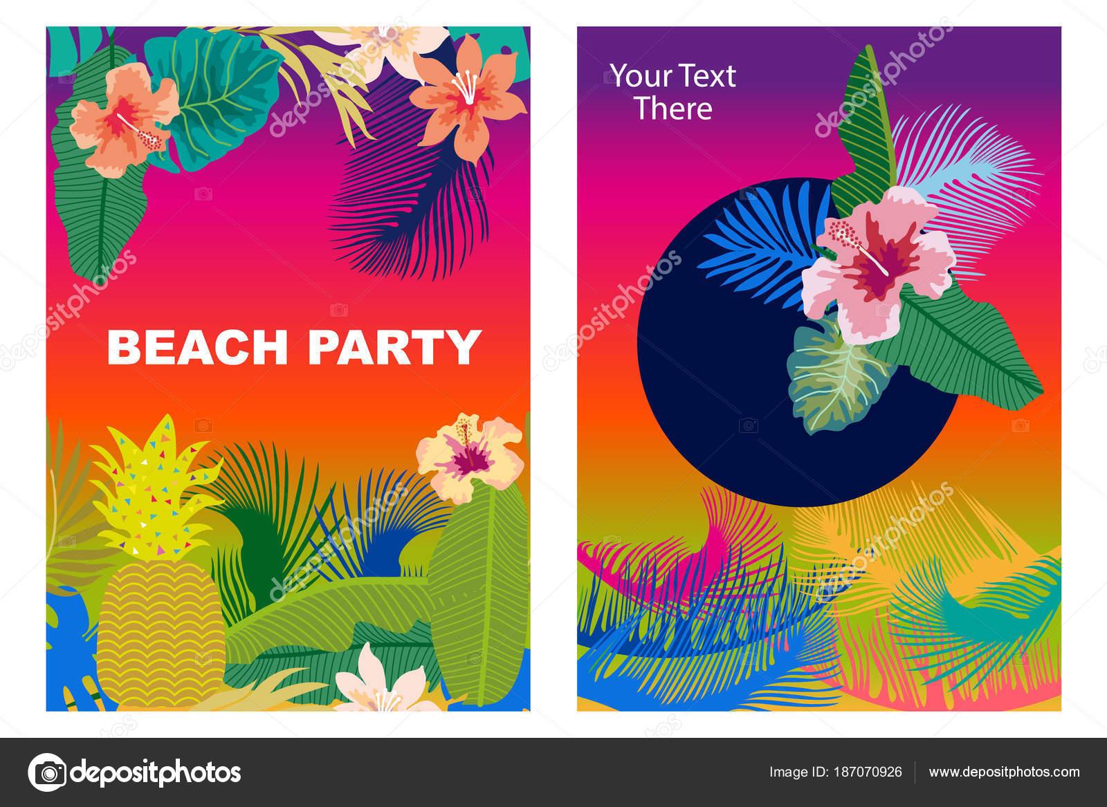 Invitaciones Para Una Fiesta Hawaiana Set De Tarjetas De