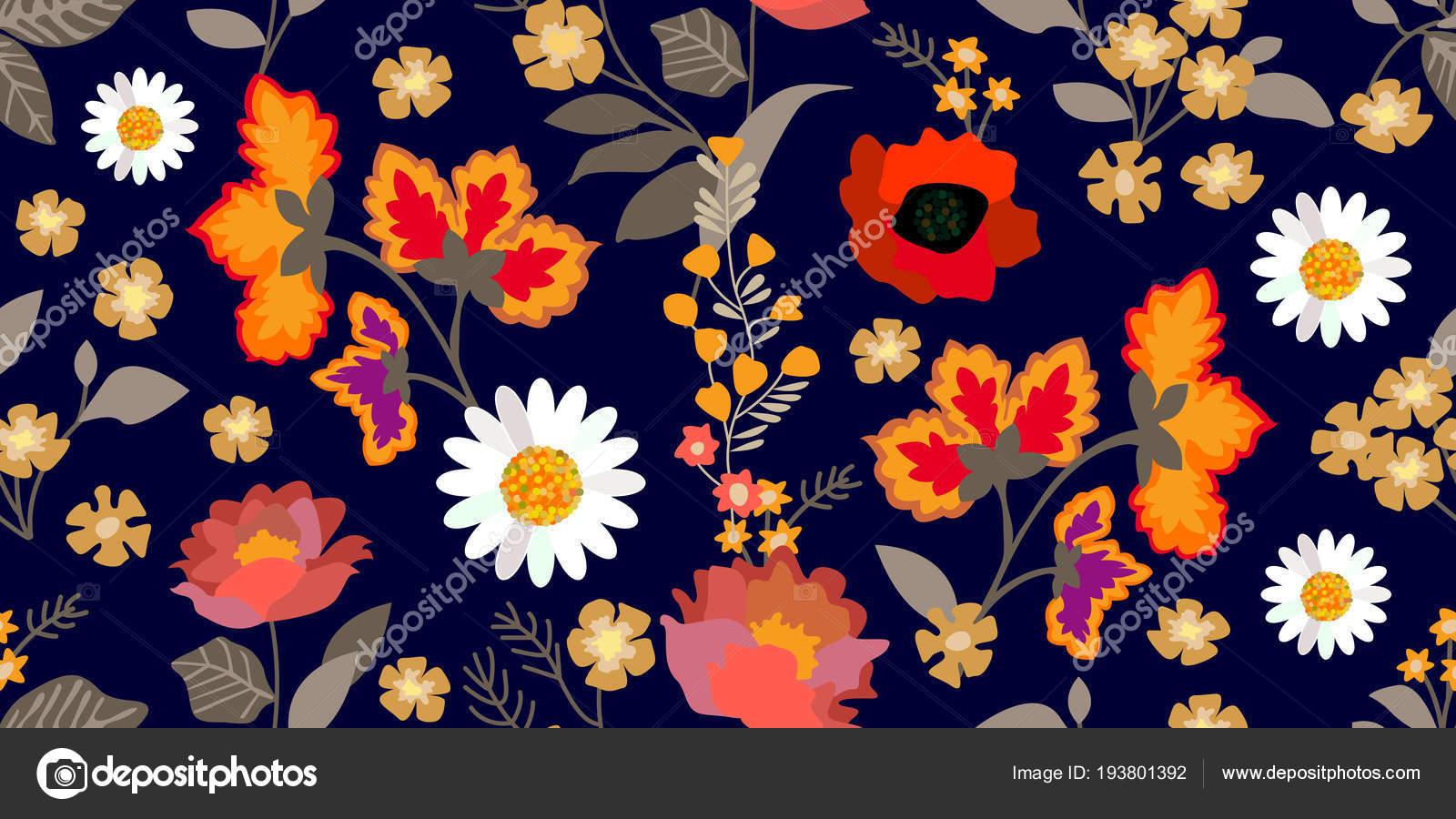 Fondos Florales Vintage Hd Frontera Floral Colorido Con Motivos De