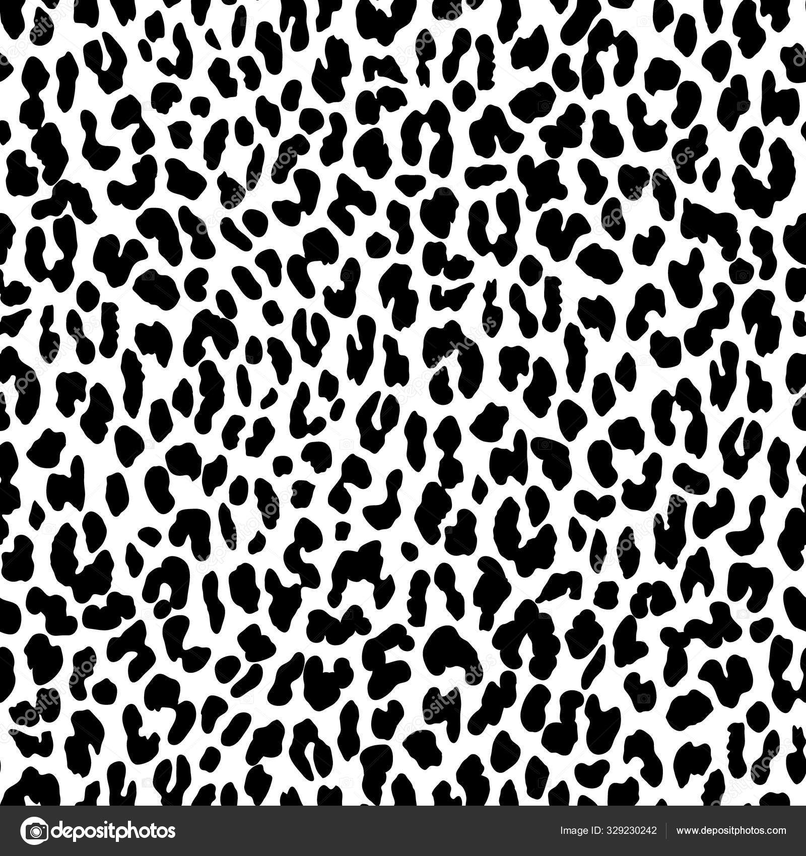Seamless animal print with jaguar spots. Stock Vector Image by ...