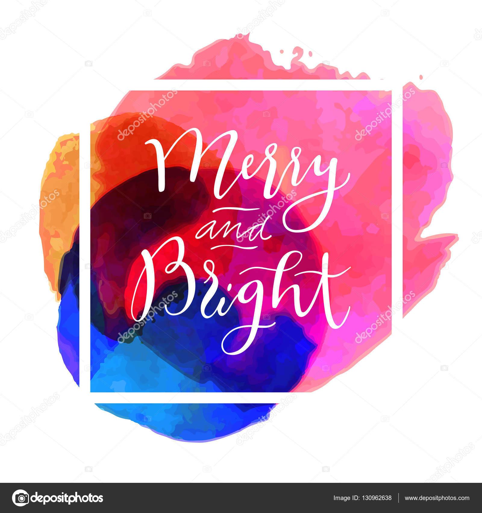 Merry and Bright Christmas card — Stock Vector © babayuka #130962638
