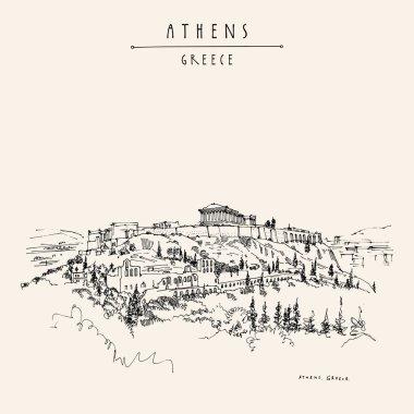 Parthenon temple and Acropolis in Athens