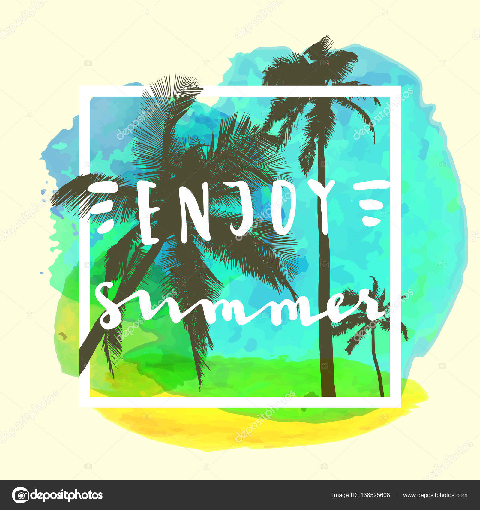 Enjoy Summer Quote U2014 Stock Vector #138525608