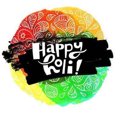 colorful Happy Holi card