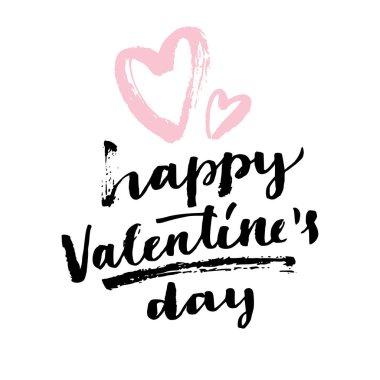 Happy Valentine's day modern calligraphy