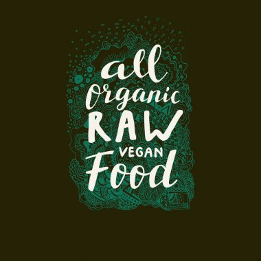Raw Vegan Food sign