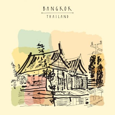 Old traditional houses in Bangkok