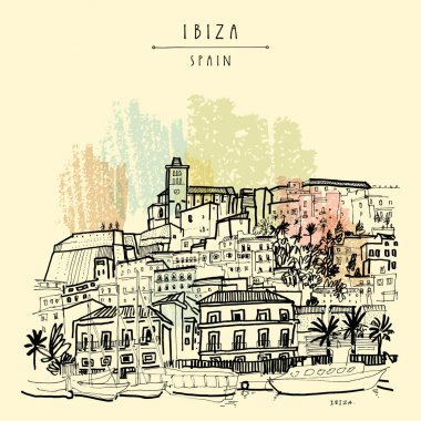 Old town and castle in Ibiza