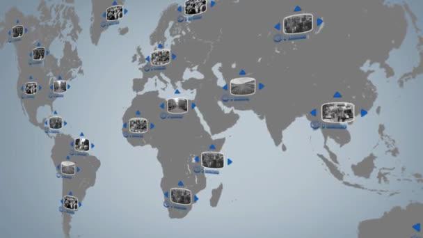 World - Digital Screen - Blue - Centre