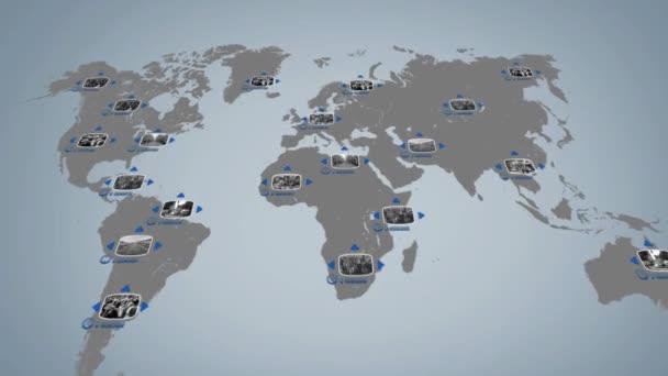 World - Digital Screen - Blue - Below