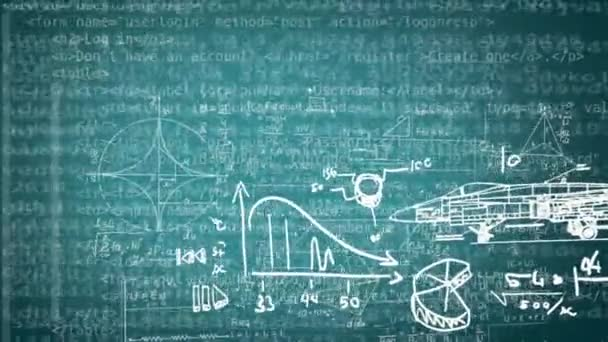 Numbers And Drawings Equation Background Coding Loop Blue