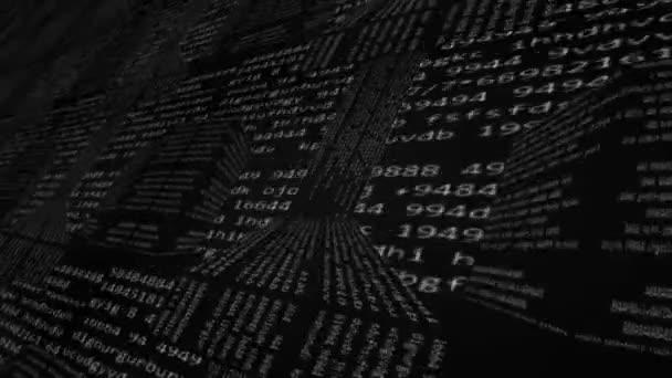 Perspektivy - pravý pohled - kódování informací - perspektivní pohled - cyber grid - matrix - čísla - černá a bílá