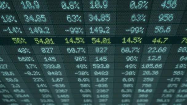 Akciovém trhu - finanční čísla - digitální Led - displej - modrá - nad