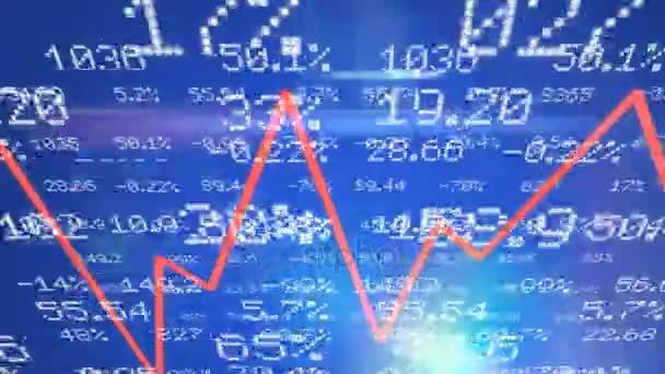 Stock čísla - grafiky - horní strana - modrá