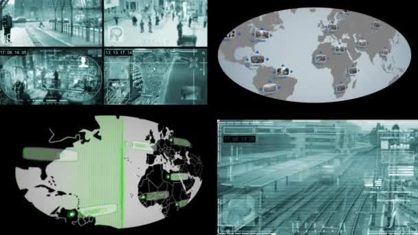 Képernyő - Globe - Monitor - kék