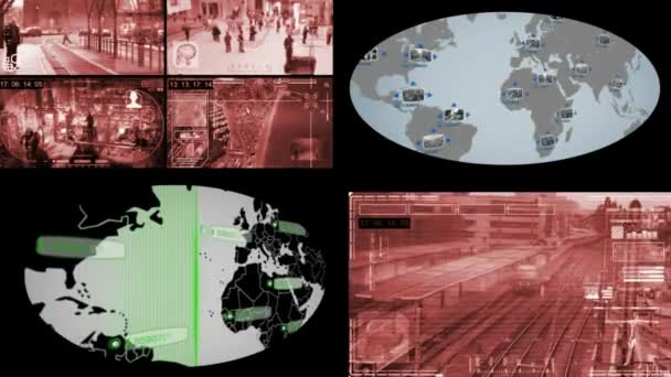 Képernyő - Globe - Monitor - piros