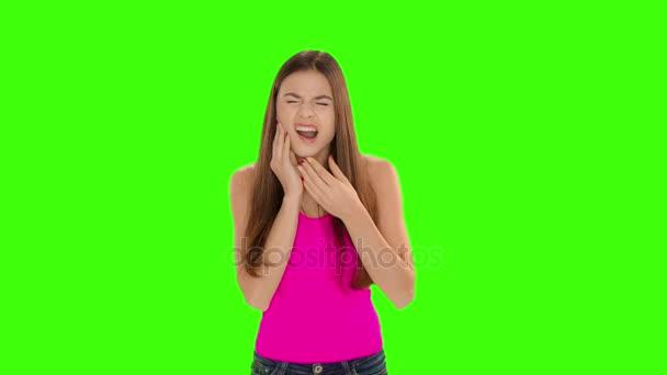 Chromakey Footage haben Zahnschmerzen