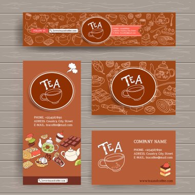 design template for coffe and tea shop