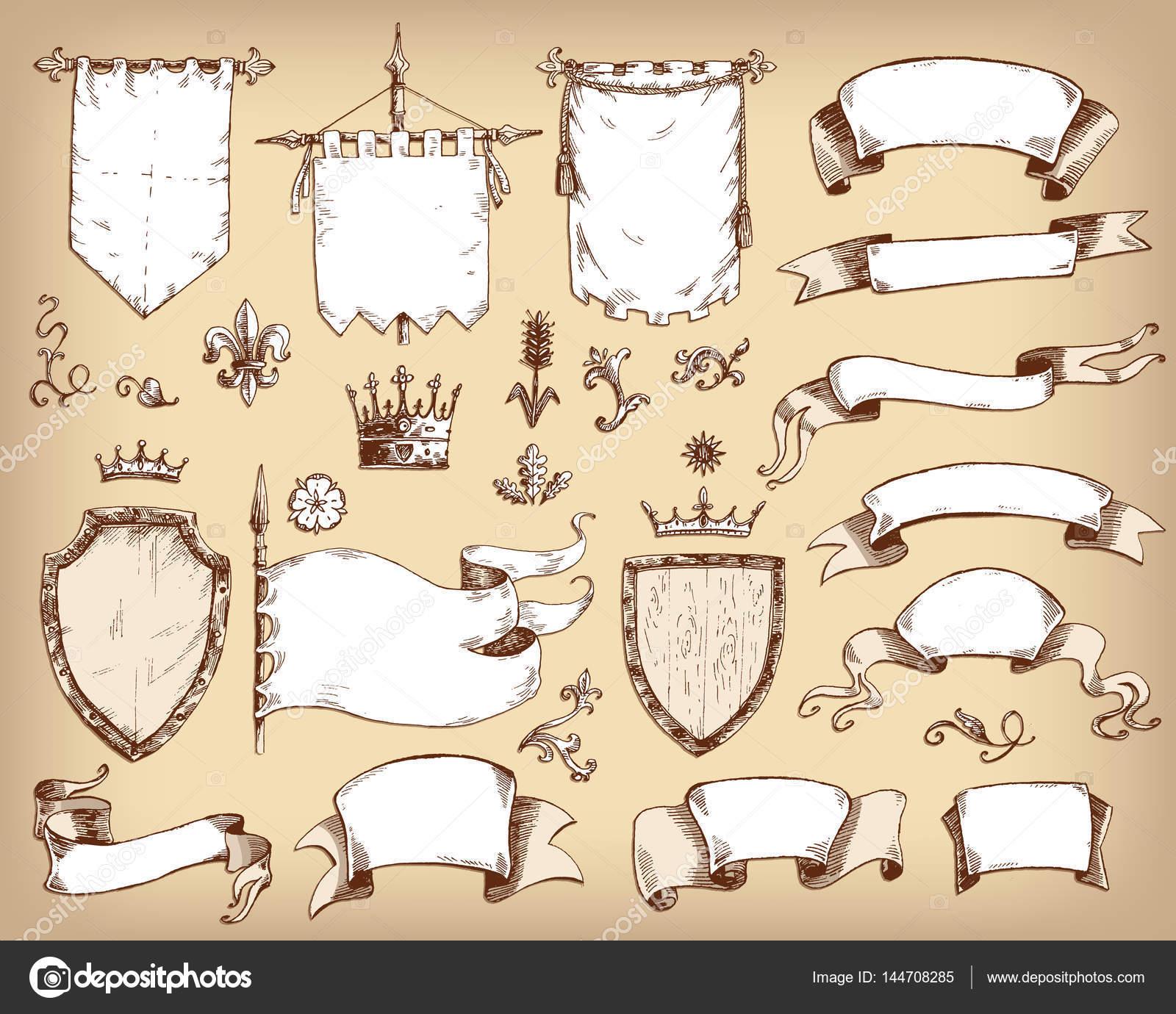 colección de plantillas de heráldica — Vector de stock © dinkoobraz ...