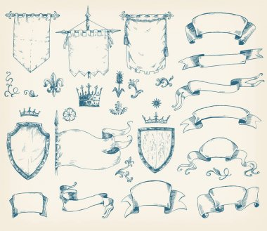 collection of heraldic templates