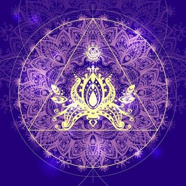 geometry ethnic indian decor element