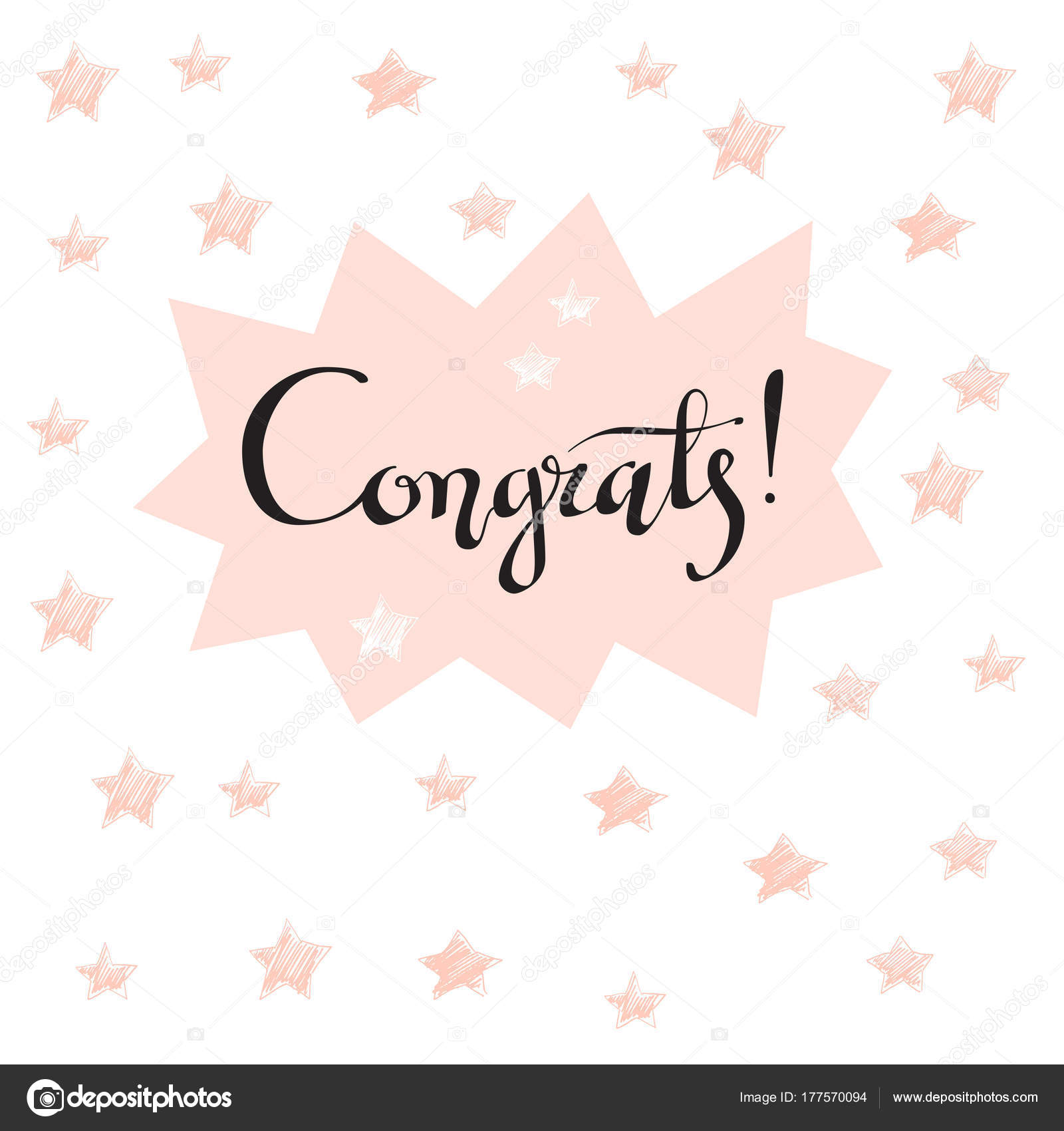 Felicidades Mano Escrito Letras Para Tarjeta Felicitaciones