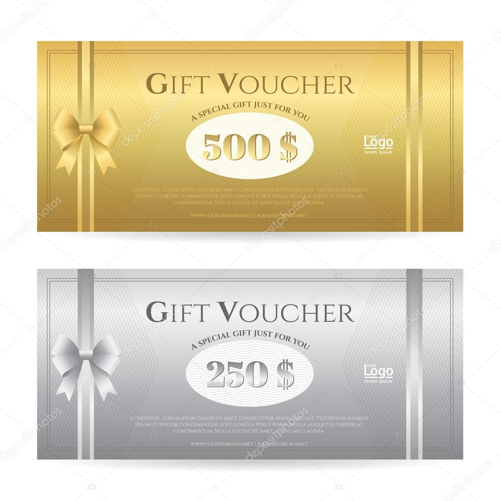 Elegante Geschenk-Karte oder Geschenk-Gutschein Vorlage mit ...