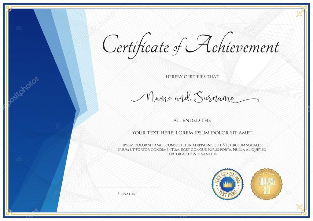 Plantilla de certificado moderna para el logro, reconocimiento ...