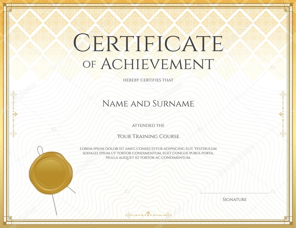 Zertifikatvorlage für Leistung, Wertschätzung, Beteiligung oder den ...
