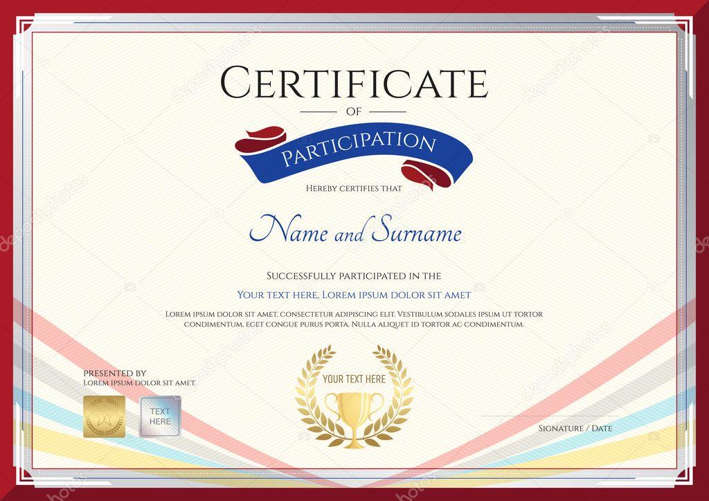 Plantilla de certificado para el logro, reconocimiento o participar ...
