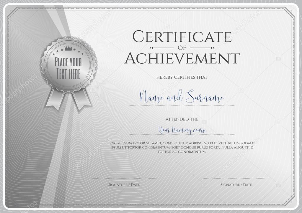 Plantilla de certificado para el logro, reconocimiento o terminación ...