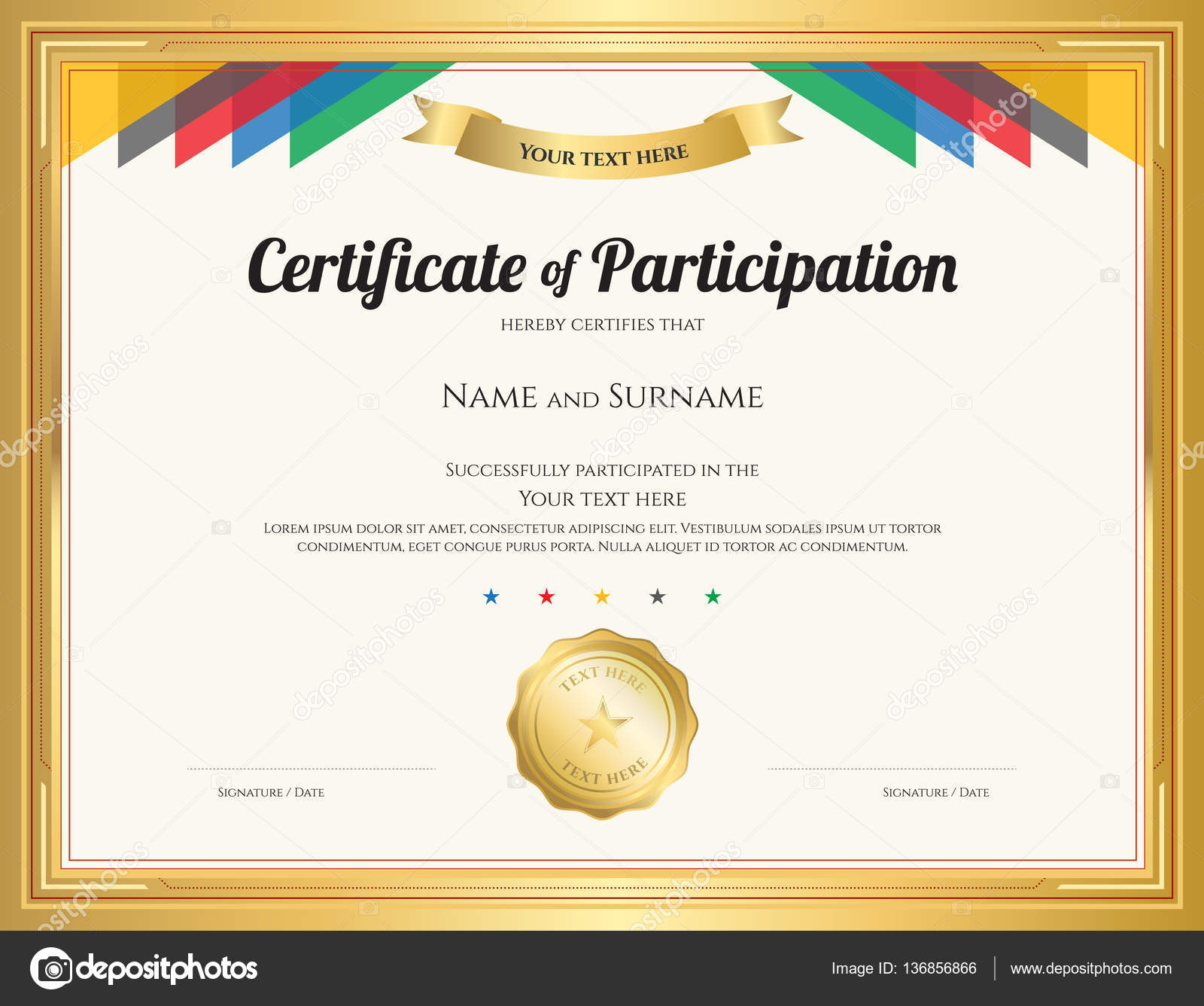 Participation Certificate Template Apartment Rental